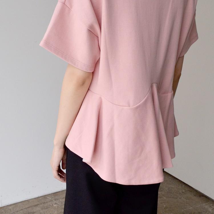オーバーサイズ バックロング フレア バイカラー Tシャツ カットソー
