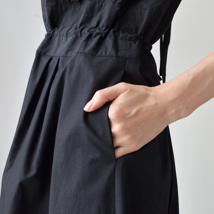 コットン 背中開き バックリボン  カットソー 半袖 ワンピース