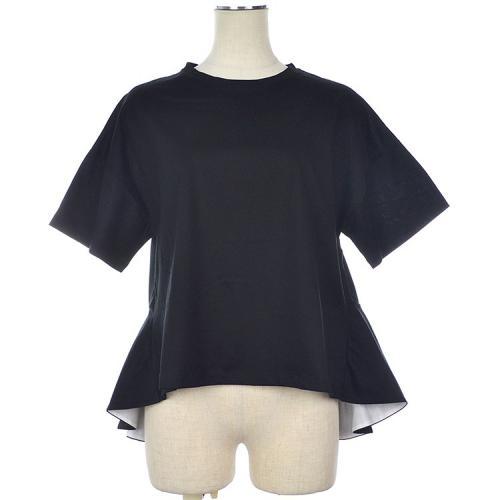 コットン バックロング フレア 変形 Tシャツ カットソー