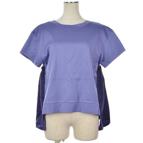 背中あき バックリボン フレア Tシャツ カットソー