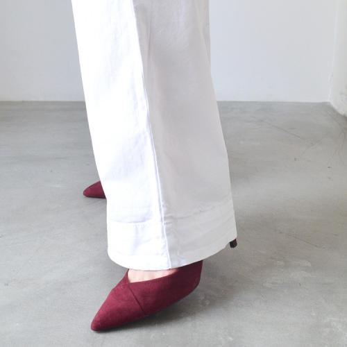 コットン カラー ワイド パンツ