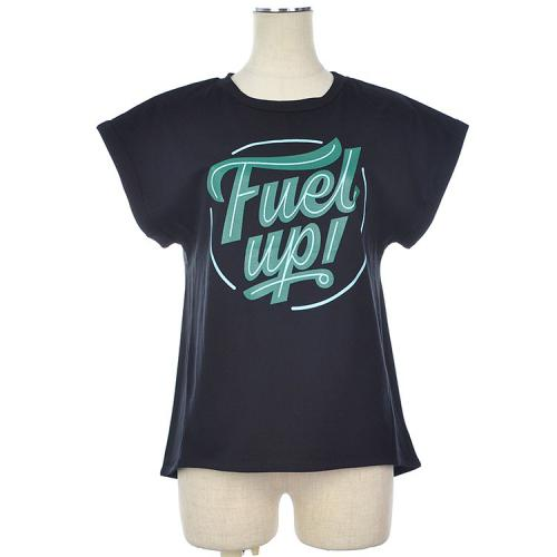 FUELUP ロゴ プリント フレンチスリーブ Tシャツ カットソー